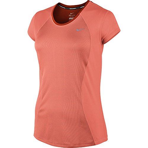 Nike 645443-616_Vivid Pink/Pink Pow/Reflective Silv_M - Maglietta da Corsa a Maniche Corte Donna, M, Colore: Rosa Vivid Pink/Pink Pow/Reflective Silv