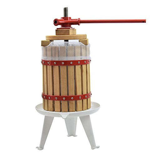 Fruit Wine Press 3.2 Gallon Solid Wood Basket Cider Press Apple Press Berries Press Wine Making Press