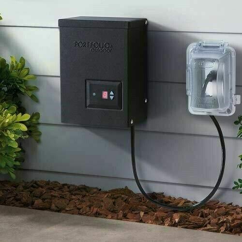 Portfolio 120-Watt Landscape Lighting Transformer with Digital Timer with Dusk-To-Dawn Sensor