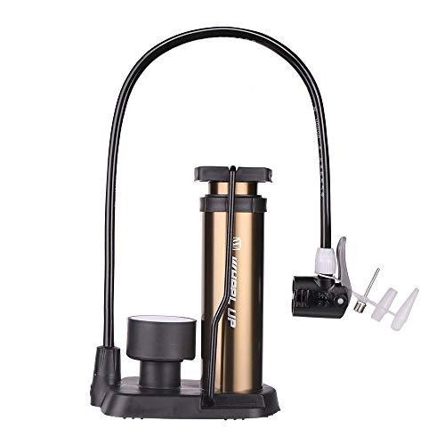 Mini Bike Standpumpe Fuß, Fahrrad Ergonomische Bike Standpumpe, Fahrrad Reifenpumpe Tragbare Fahrrad Luftpumpe Kompatibel & Ventile Aluminiumlegierung barrel Frei Gasnadel