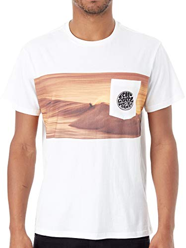 RIP CURL 2019 Mens Action Original Surfer T-Shirt White CTEDA5 Mens Size - S