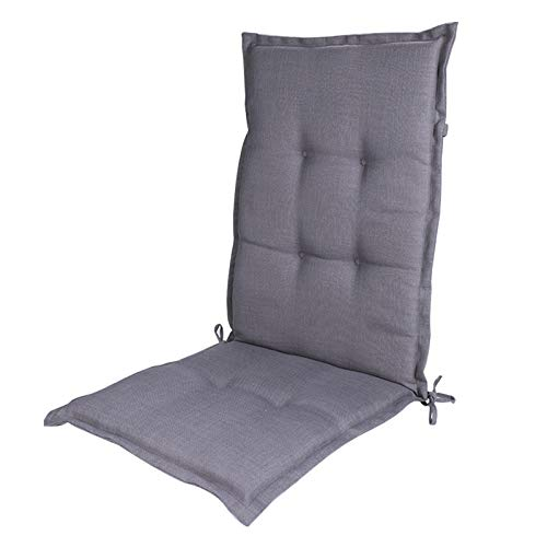 WY-SYY Outdoor Sling Seating Cushion Outdoor Rocking Chair Cushion with Ties,outdoor/indoor Stripe Square Corner Chair Cushion,high Back Chair Cushion Dining Chair Cushion,Gray,120 * 50 * 5cm