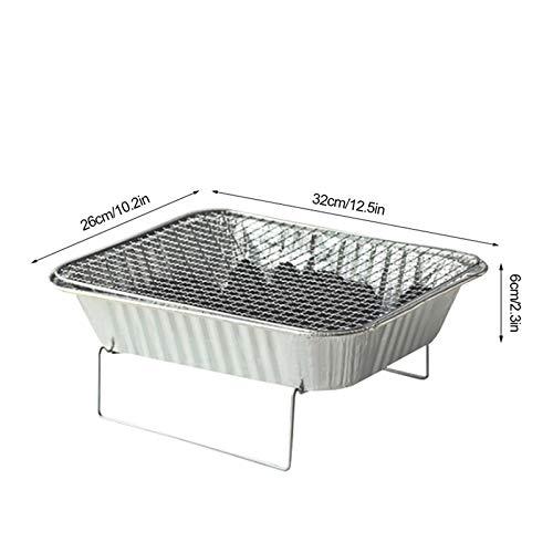 41WiMNAxIDL - TYZY Einweg-Grill Feld tragbarer Kohle Mini Kohlegrill Hohe thermische Effizienz Barbecue Ofen für Außenhandelshauptständer