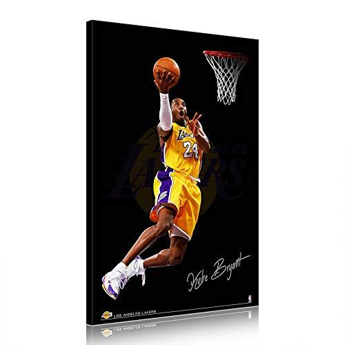 NBA Kobe Bryant Leinwand Poster Basketball-Grafik für Wohnzimmer-Dekor (Prints-9,60x90cm)