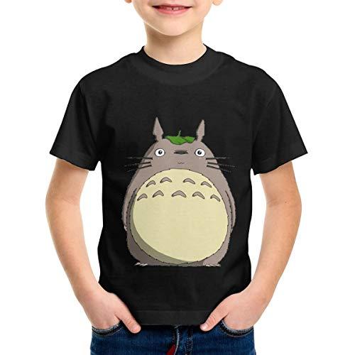 SherryELynch Totoro Studio Adolescent Children's T-Shirt Party Teen T-Shirt Tshirts 3T Black