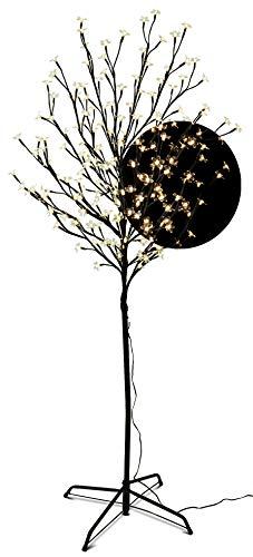 LED Blütenbaum mit 200 LEDs beleuchtet, 150 cm, warm-weiß, Lichterzweig, Kirschblütenbaum, Lichterbaum, LED-Baum für Innen- und geschützten Außenbereich (150 cm mit 200 LED)