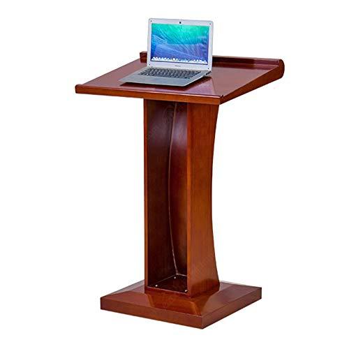 YBWEN Rednerpult Multimedia Podium Schreibtisch Massivholzraum Konferenz Lehrer Mobile Etage Laptop-Computer Steht (Farbe : Reddish Brown, Size : One Size)