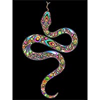 50x70 cm-5D Full Square Snake Rhinestones Diamond Embroidery Animals Diamond Painting Home Decor