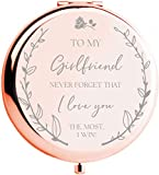 I Love You Gifts for her I Gifts for Girlfriend I to My Girlfriend Romantic Rose Gold Compact Mirror I Cute Girlfriend Gifts I Birthday Gifts for her I Girlfriend Gifts for her