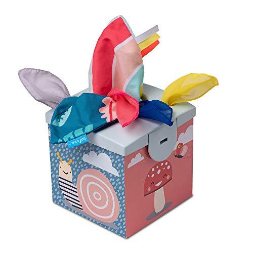 Taf Toys Sensory Wonder Caja de pañuelos para bebés y niños pequeños, bufandas coloridas y mantas de Koala Daydream para aprendizaje y desarrollo educativo preescolar