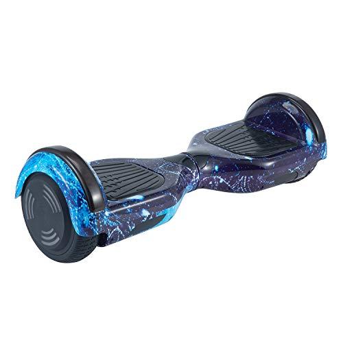 """Hoverboard, Hoverboard Premium de 6.5 """"- Altavoz Bluetooth - Potente Motor Dual - LED - Patineta eléctrica Self Balance Scooter (Cielo Estrellado Azul)"""