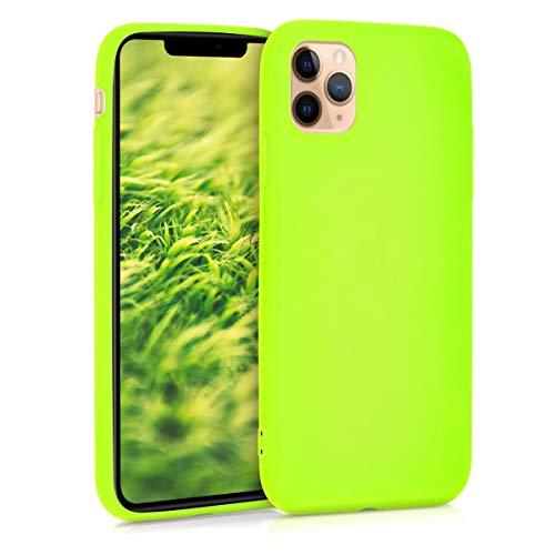 kwmobile Cover Compatibile con Apple iPhone 11 PRO Max - Cover Custodia in Silicone TPU - Backcover Protezione Posteriore - Giallo Fluorescente