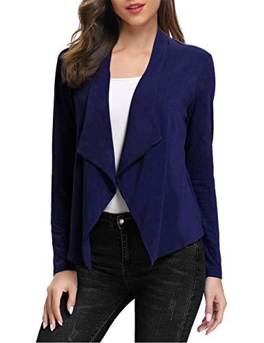 KOJOOIN Dames Cardigan Elegant Blazer licht gebreide jas Bolero gebreide jas herfst winter casual jack (verpakking MEHRWEG)