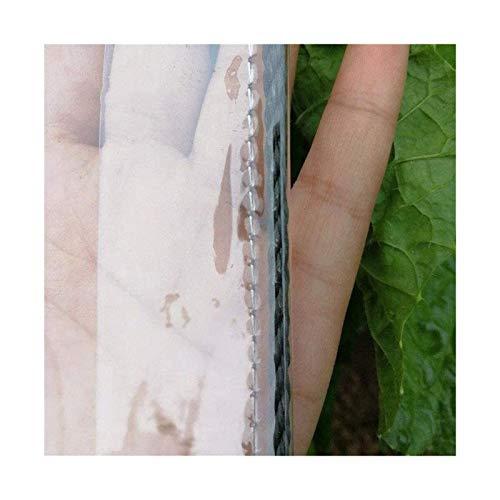 ETNLT-FCZ Toldo Clear Tarpaulin Claro Impermeable Lona Transparente de PVC a Prueba de...