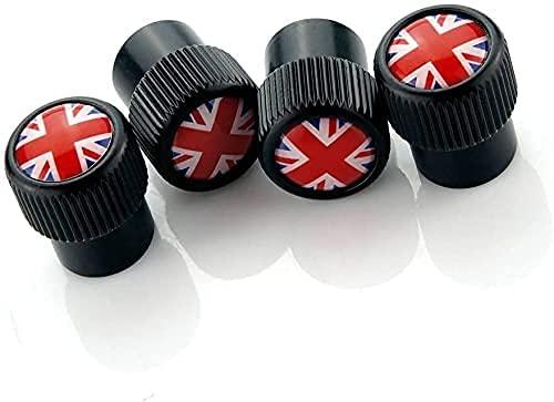 4 Piezas Neumáticos Tapas Válvulas para Mini all models, Antipolvo Tapones de Coche Decoración Accesorios