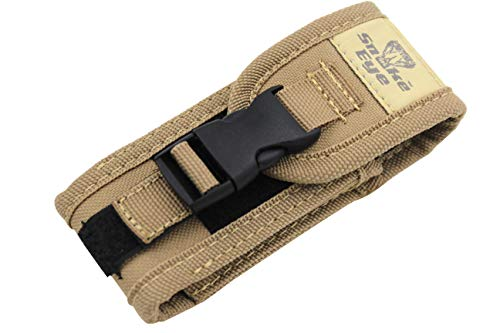 Snake Eye Tactical Every Day Carry Smooth Nylon Folding Knife Carrying Case Fits 5-6 Inch Folding Knives (Brown)
