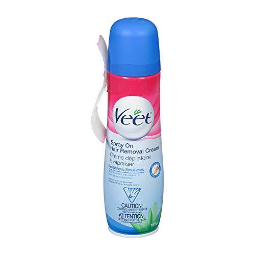 Veet Spray On Hair Remover Cream, Sensitive Formula, 5.1...