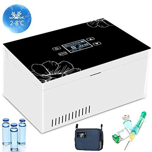 GGMWDSN Nevera Portatil Insulina, Que Mantiene 2-25 ℃ Durante 8 Horas, Insulina PortáTil Caso del Recorrido Caja del Refrigerador, Pantalla LCD, con 1 BateríA Incorporada