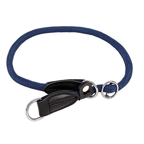 lionto by dibea Collare per cani collare retriever collare da addestramento 60 cm Ø 1 cm Blu