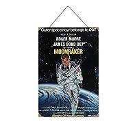 ジェームズボンド007フィルムシリーズセクシービューティーストッキング(3木製のリストプラーク木の看板ぶら下げ木製絵画パーソナライズされた広告ヴィンテージウォールサイン装飾ポスターアートサイン