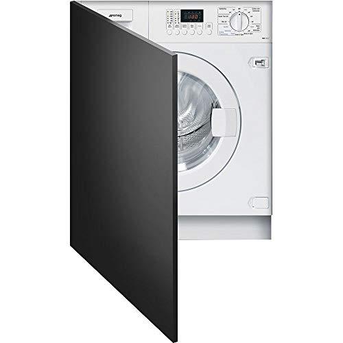 Smeg wdi14°C7Freestanding Front-Load A White Washing Machine–Washer Dryer (Drum Front, Freestanding, white, left, 4kg, 1400RPM)