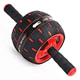 BLD Ab Roller Evolution, 7 Inches Wide Abs Wheel Rollers, Silent Training Machine for Men & Women Abdominal Workout with Knee Pad