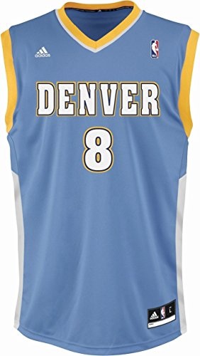 adidas Bekleidung Basketball Trainings Int Fanshop Trikot 8 Camiseta, Hombre, Multicolor (Nba Denver Nuggets 1), XXS