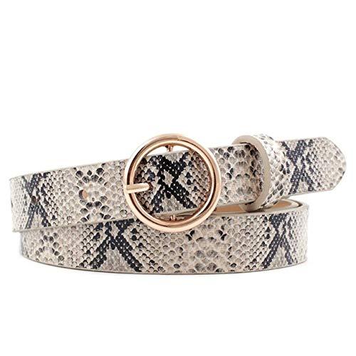 Luipaardgordel Dames Snake Zebra Luipaardprint Riem PU-leer Gouden ring Gespriemen voor dames Dames