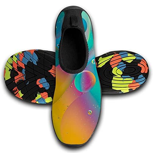 122 Zapatos de deportes acuáticos descalzos de secado rápido Aqua Yoga Calcetines Slip-on para hombres y mujeres, Unisex, KAWFW7AG9-PHKA-GVB-LWT, Negro 3, 13-13.5 M US