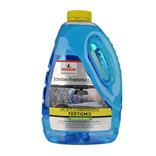 Nigrin 20213 Scheiben-Frostschutz gebrauchsfertig bis-18°C 3 Liter schneller, schlierenfreier und effektiver Scheibenreiniger Winter