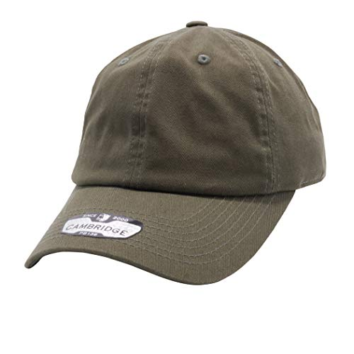 PIT BULL CAMBRIDGE PB136 Unstructured Wahsed Cotton Twill Dad Cap Hat Olive