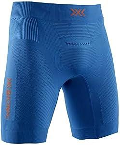 X-Bionic Invent Run Speed Shorts, Hombre, Teal Blue/kurkuma Orange, S