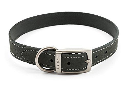 ANCOL Timberwolf Collar de Piel para Perro, 55 – 63 cm, Color Gris