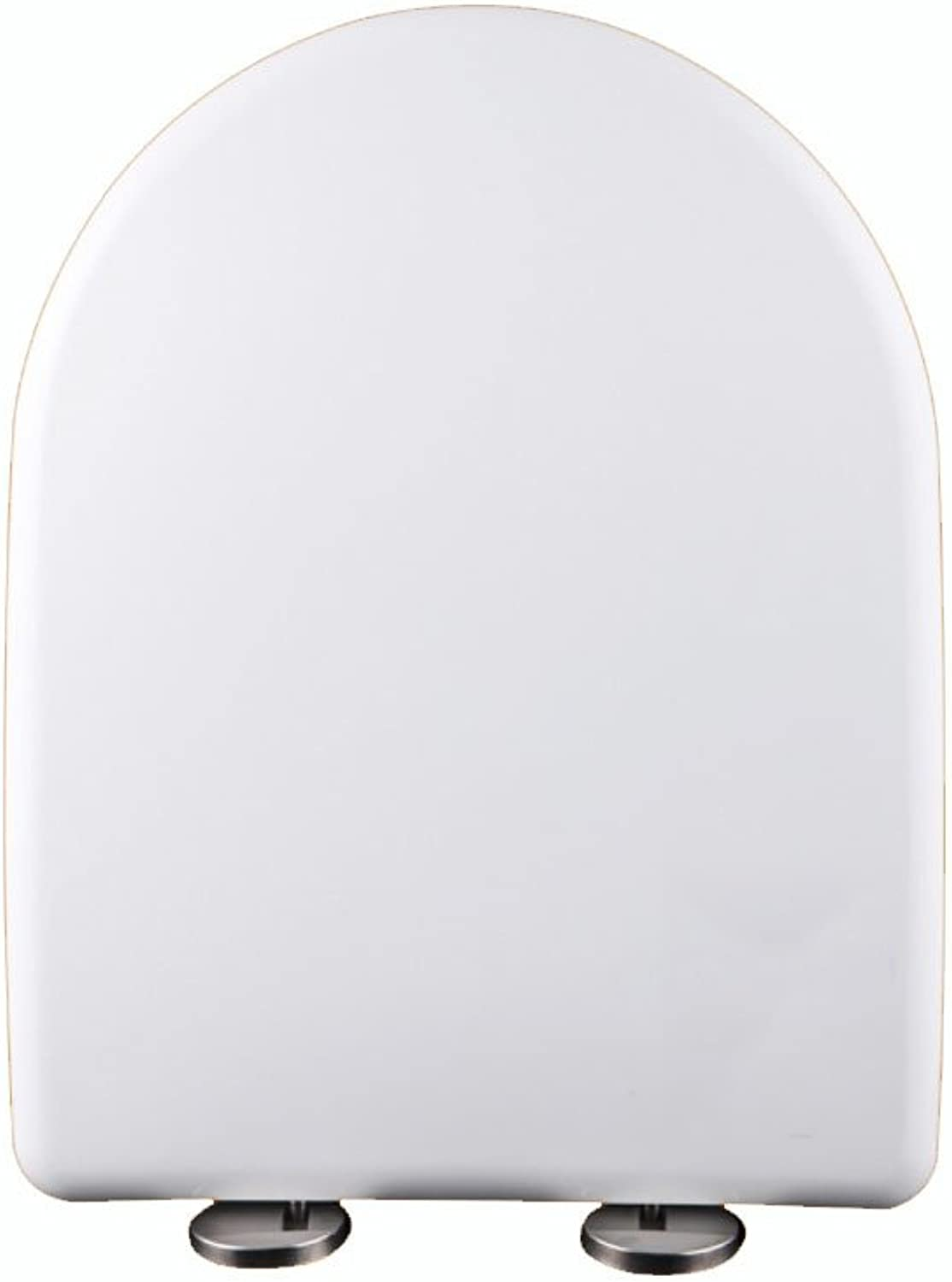 Toilet Seat Universal Step-down Mute Stereo PP Toilet Cover Antibacterial Vintage Cover,D.-46cm36.3cm