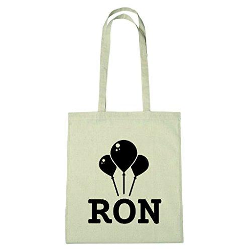 JOllify katoenen tas - Happy Birthday voor RON - BHB5880 ballonnen