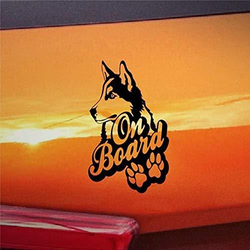 """DONL9BAUER Auto-Aufkleber mit Aufschrift \""""Husky On Board\"""", Vinyl, für Laptop, Reiseetui, Becher, Tür, Stoßstange, Gepäck"""