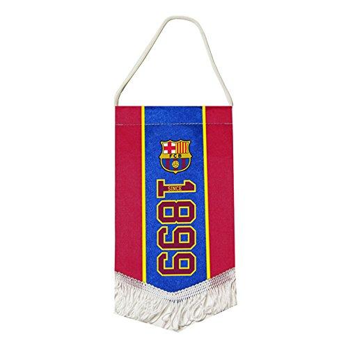 FC Barcelona Fußball Wappen Design Established Mini Wimpel (Einheitsgröße) (Rot/Blau)
