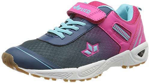 Lico Damen Barney VS Multisport Indoor Schuhe, Blau (Marine/Pink/Türkis Marine/Pink/Türkis), 37 EU