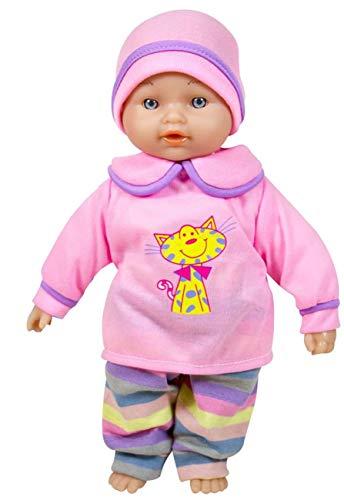 Lissi Babypuppe sprechende Nina Puppe 6 Sounds ab 2 Jahre rosa