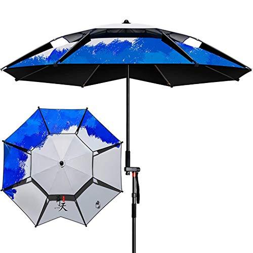 MISS KANG Pesca Parasol protección Sol Lluvia Plegable Paraguas al Aire Libre Grande Playa Paraguas (Color: Azul, Tamaño: 220cm) Qingchunw (Color : Red, Size : 220CM)