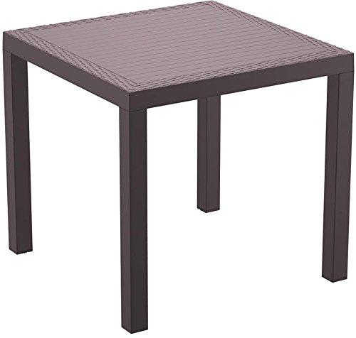 resol Mesa de jardín Exterior Cuadrada Indian 80x80 - Color Chocolate