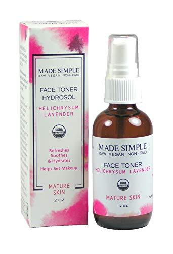 Certified Organic Raw Vegan Cruelty-free Helichrysum Lavender Face Toner Hydrosol