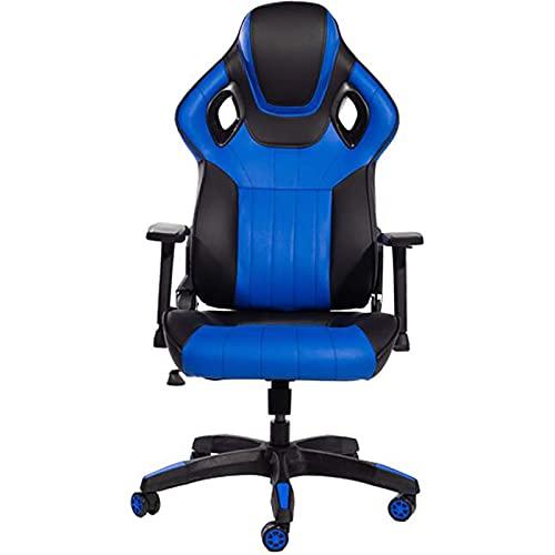 Especial /Simple Silla de oficina de cuero de PU, silla ergonómica de la computadora, silla de escritorio de estilo de carreras sillón reclinable, silla de jugador ajustable, adultos, silla giratoria
