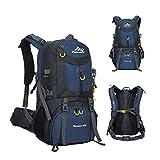 MYMM 40/50 / 60L Senderismo Camping Mochila para Escalada de montaña, Senderismo al Aire Libre, Camping, Viaje, Mochila Bolsa de Equipaje para Hombres Mujeres (Armada, 60L)