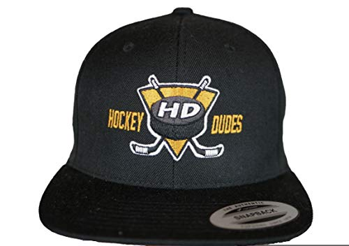 HOCKEYDUDES Classic Logo Snapback Cap - Gorra de hockey sobre hielo unisex