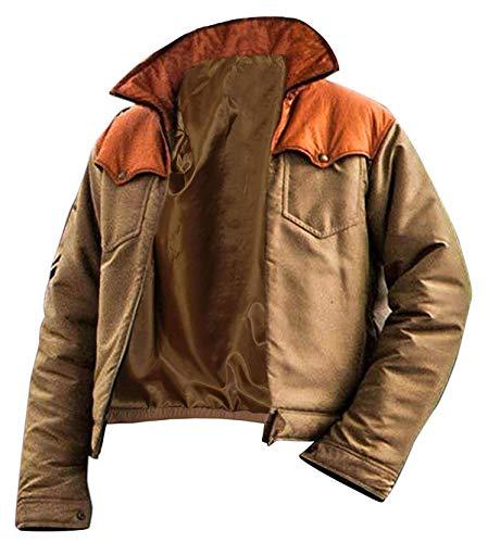 Giacca bomber da uomo, in cotone, stile Kevin Costner come John Dutton in Yellowstone Giacca da cowboy M