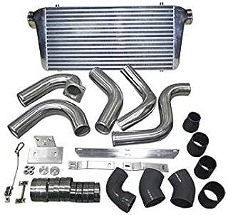CXRacing FMIC Front Mount Intercooler + Piping kit For 89-91 Dodge Ram Cummins 5.9L Diesel black hose