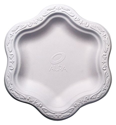 Harvest Pack 7-inch Compostable Disposable Paper Plates, White Floral Acanthus Collection [50 COUNT]