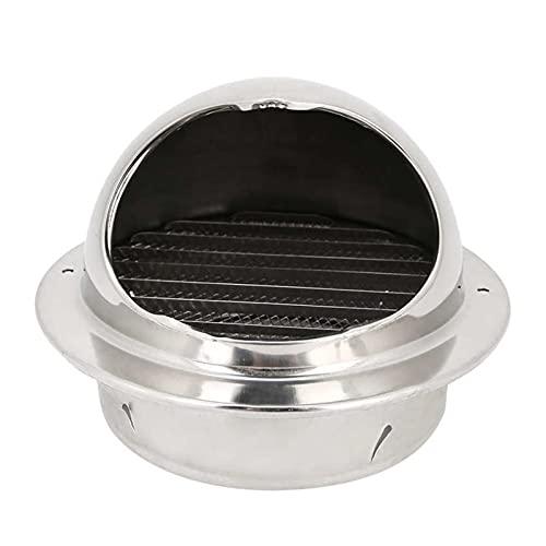 HUAZHUANG-Home Edelstahl Küchenventilator Auspuff Haube Grill Outlet Vent Accessoire Atmungsaktive Kappe Poliert Verdickter, Durchmesser 150mm