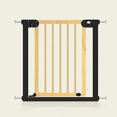 MKJYDM Puerta de Seguridad for niños Valla de Mascotas Puerta de Aislamiento Protectora Aumento cifrado Ancho 76-83cm Valla de Juegos para niños (Color : A)